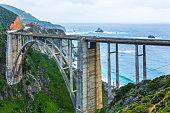Bixby Bridge, coastline, California, USA