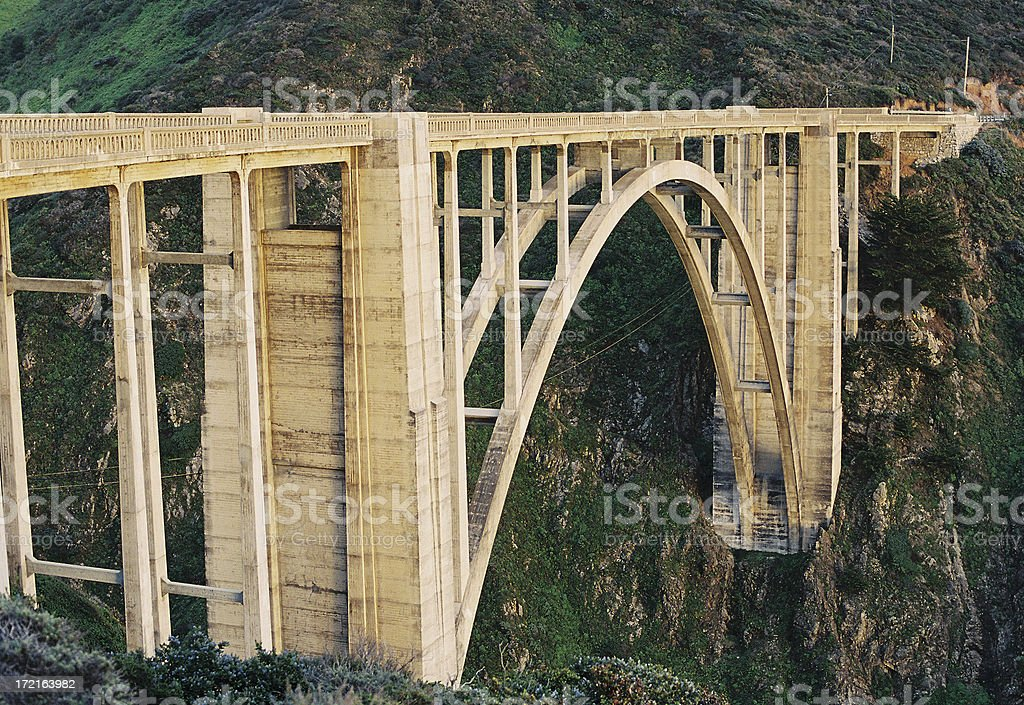Bixby Bridge in Big Sur California royalty-free stock photo