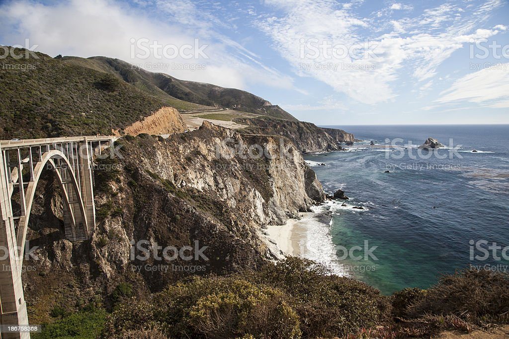 Bixby bridge in Big Sur, California stock photo
