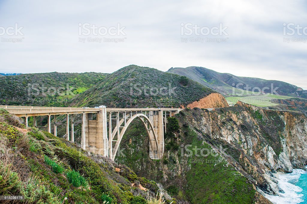 Bixby Bridge in Big Sur California stock photo