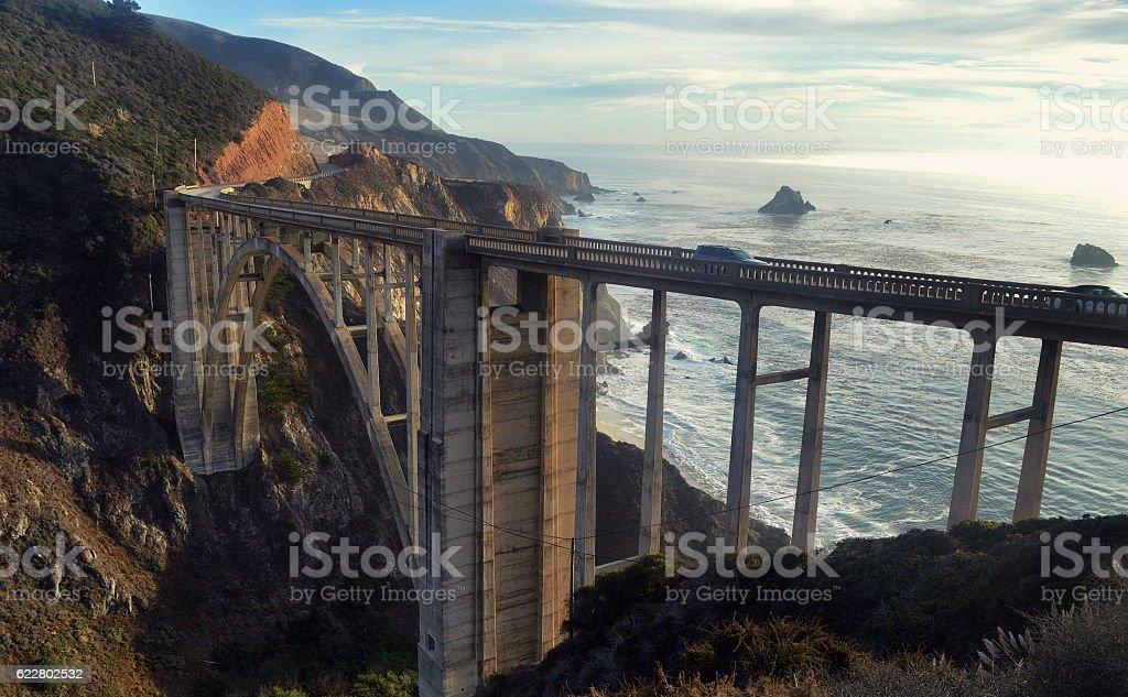 Bixby Bridge on California's Highway One stock photo