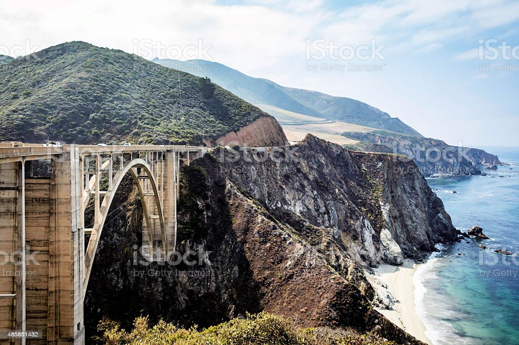 Bixby Bridge on Highway 1 stock photo