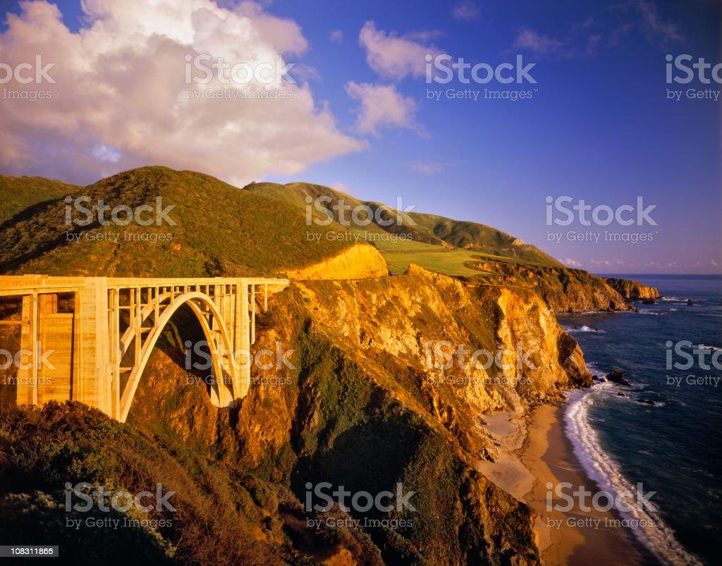 Bixby Bridge on the California Coastline stock photo