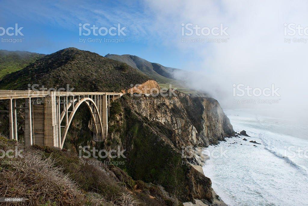 Puente de Bixby foto de stock libre de derechos