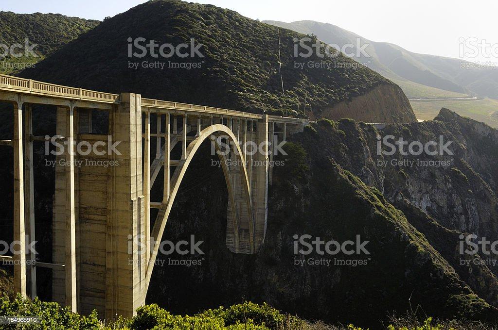 Bixby Creek Bridge Along California Highway 1 royalty-free stock photo
