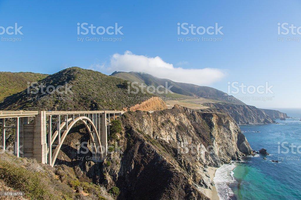 Bixby Creek Bridge and Big Sur coastline, California stock photo