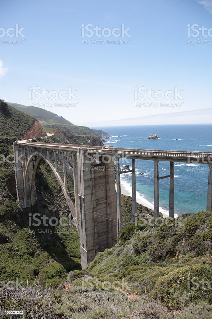 Bixby Creek Bridge at Big Sur in California stock photo