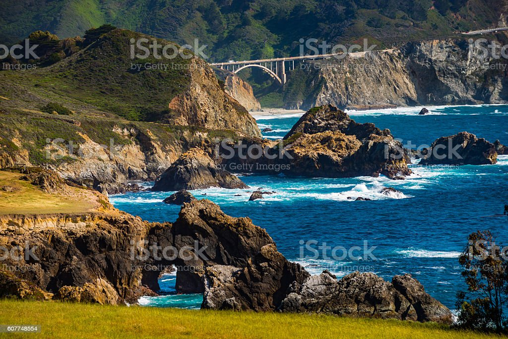 Bixby Creek Bridge Big Sur California stock photo
