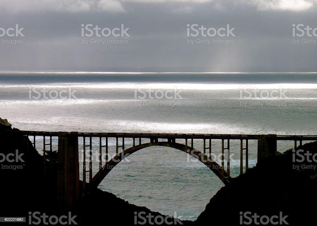 Bixby Creek Bridge Color stock photo