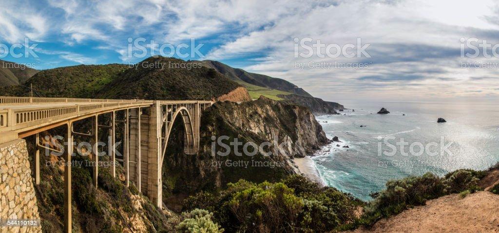 Bixby Creek Bridge in California stock photo