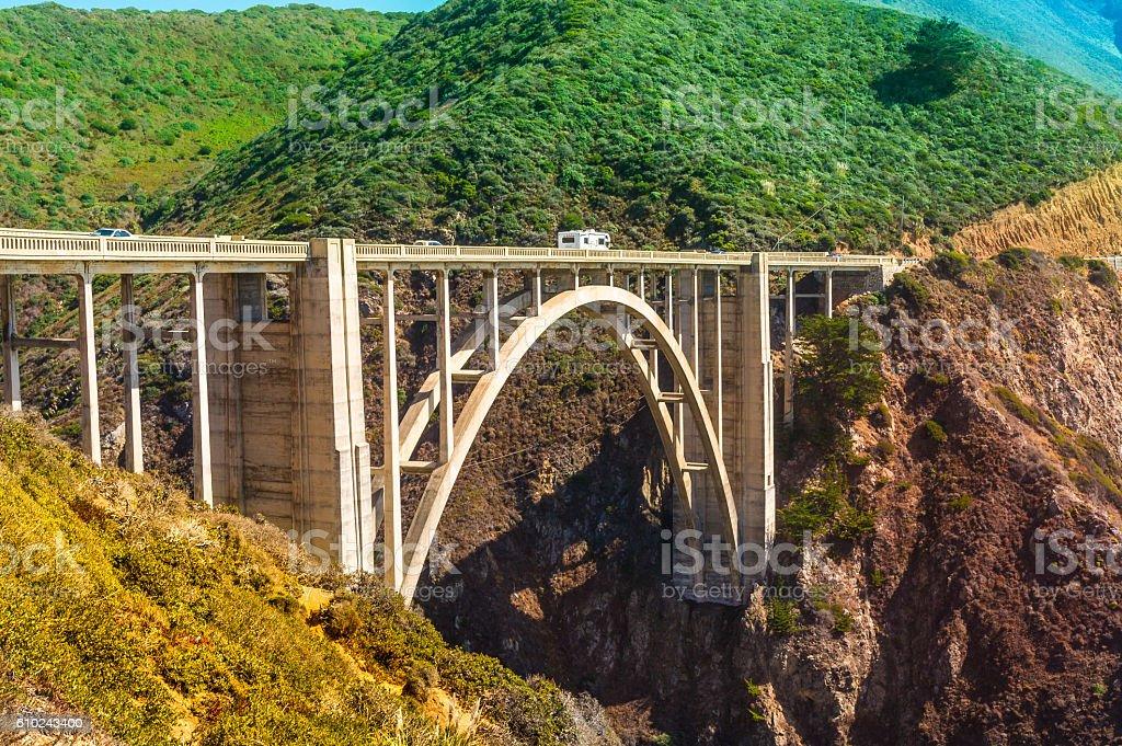 Bixby Creek Bridge on Pacific Coast Highway #1 stock photo