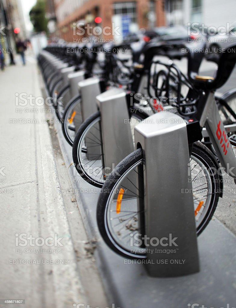 Bixi Bicycle Sharing System royalty-free stock photo
