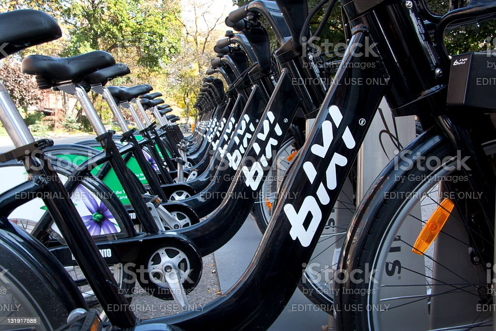 Bixi Bikes royalty-free stock photo