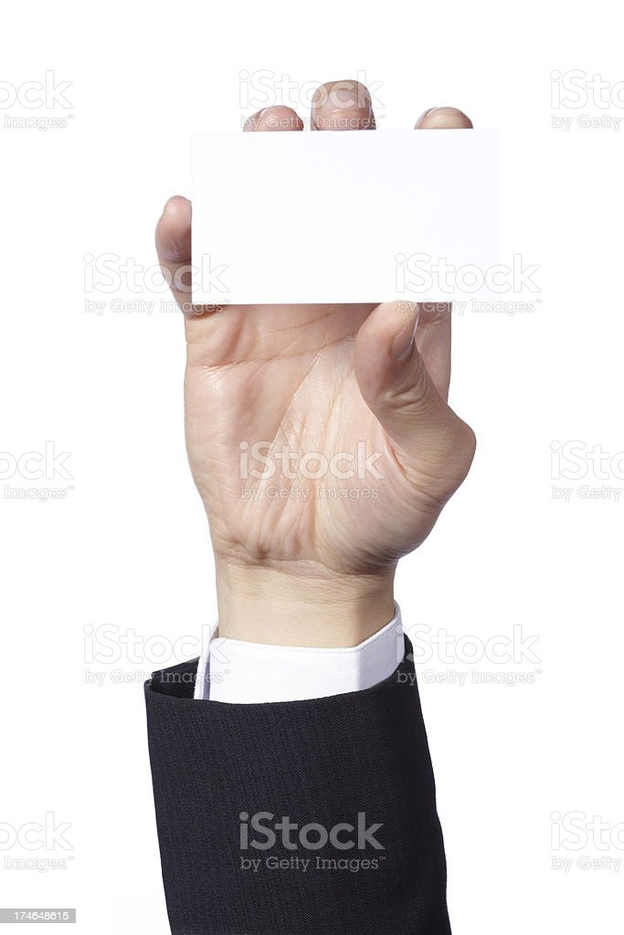 Biz Card royalty-free stock photo