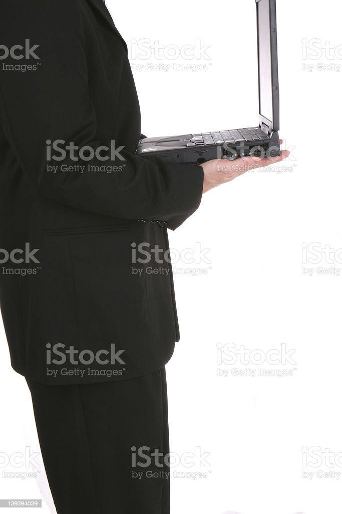 Biz Laptop One royalty-free stock photo