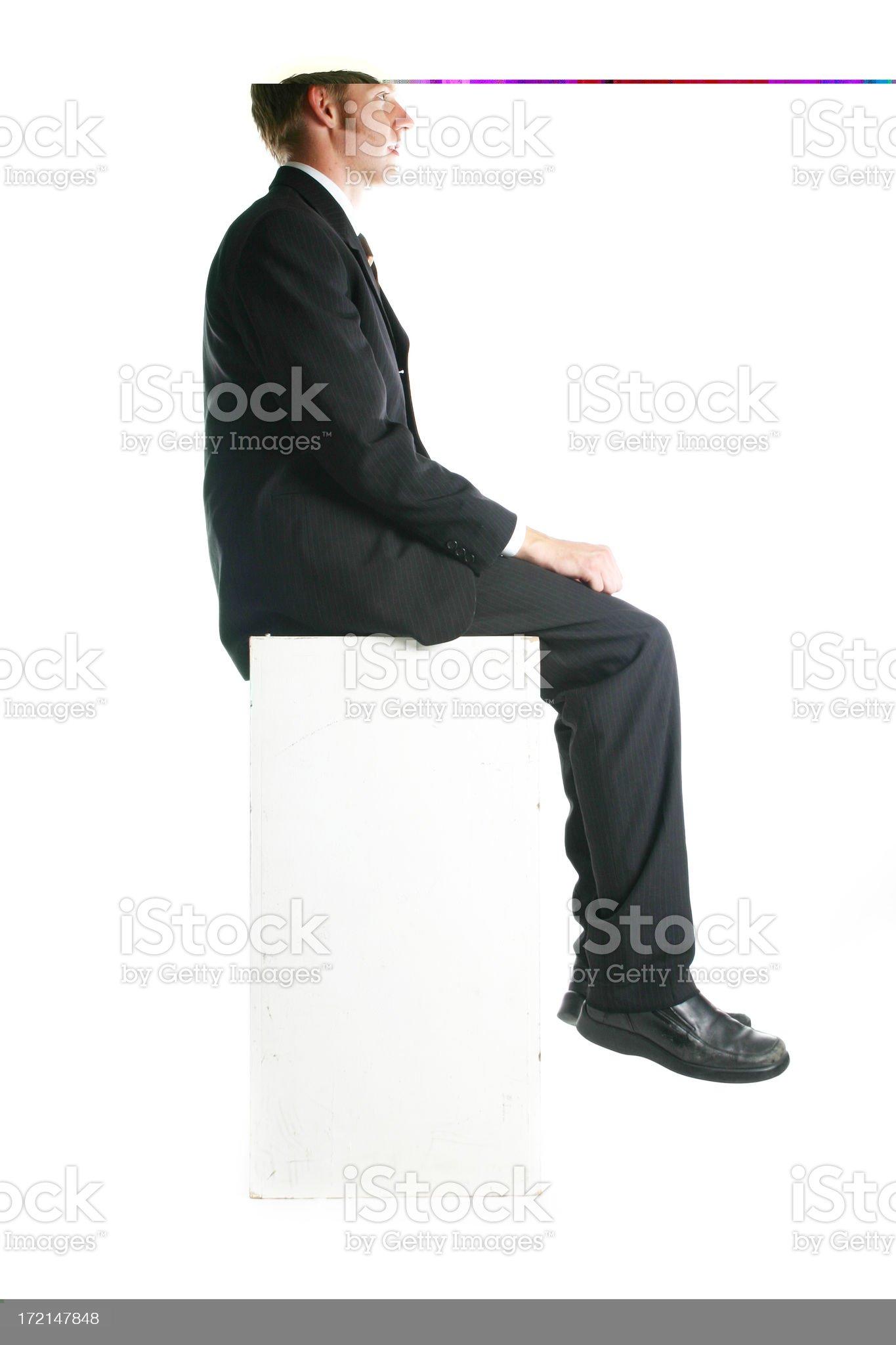 Biz man - seated royalty-free stock photo