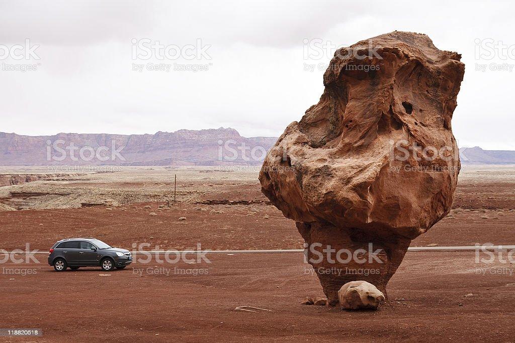 Bizarre Balanced Rock, Marble Canyon, Arizona stock photo