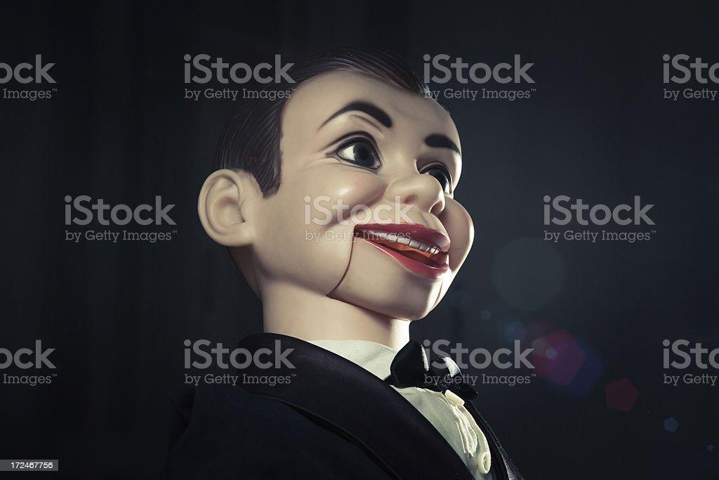 Bizarre dummy portrait royalty-free stock photo