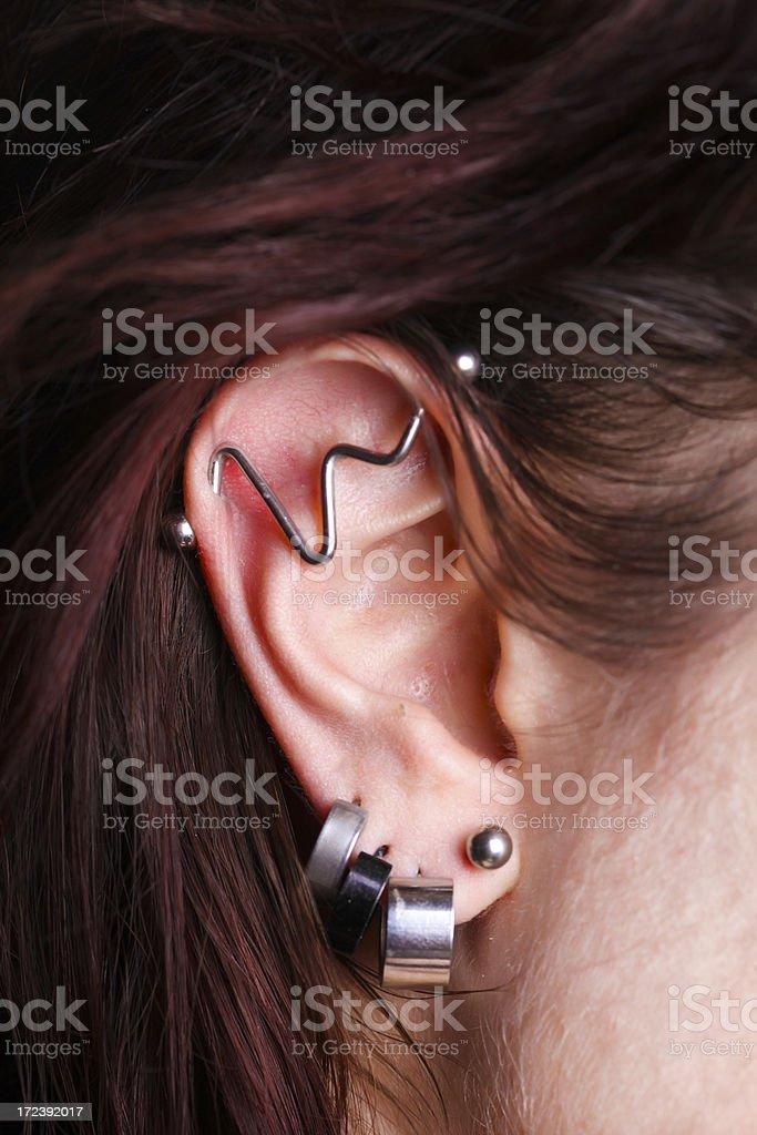 Bizarre earrings royalty-free stock photo