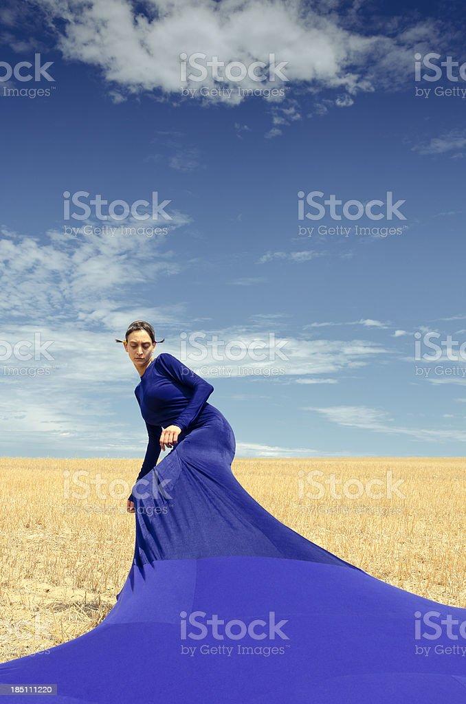 Bizarre fashion portrait of a woman royalty-free stock photo