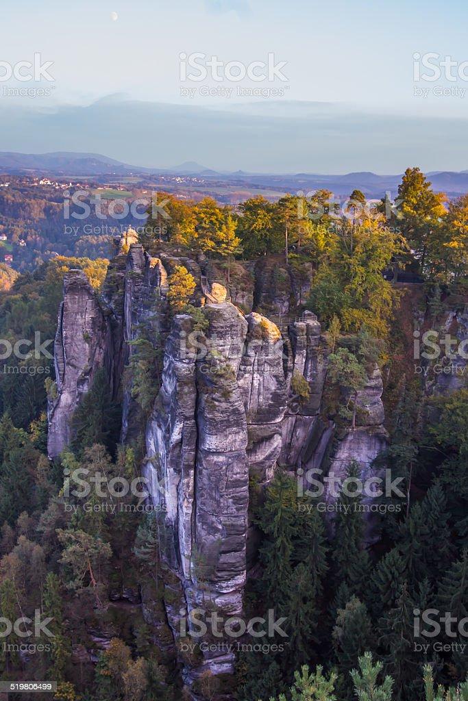 Bizarre Felsformationen Landschaft stock photo