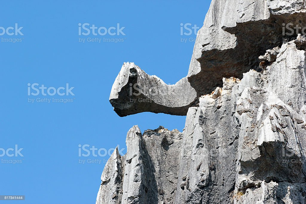 Bizarre rocks in Shilin stone forest, Yunnan, China stock photo