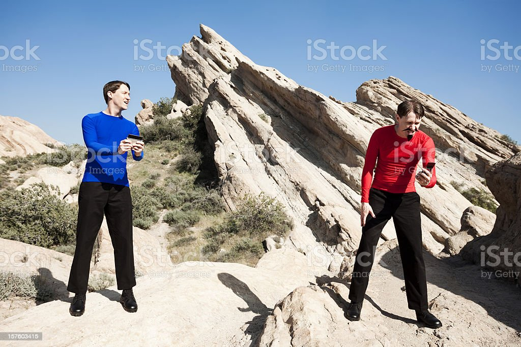 Bizarro Communicado: Evil Twin stock photo