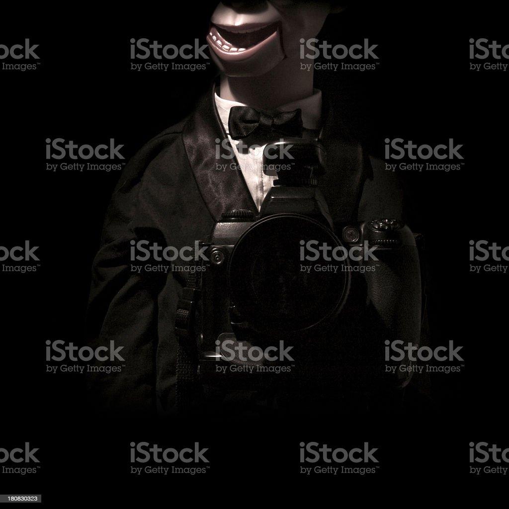 Bizzarre dummy portrait royalty-free stock photo