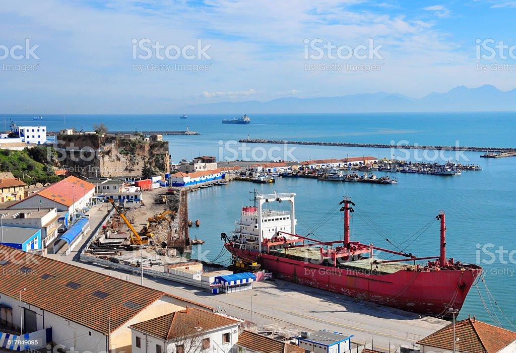 B?ja?a, Algeria: old harbour stock photo
