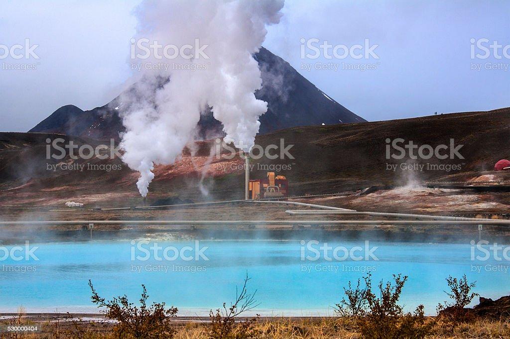 Bjarnarflag Geothermal Power Station - Iceland stock photo