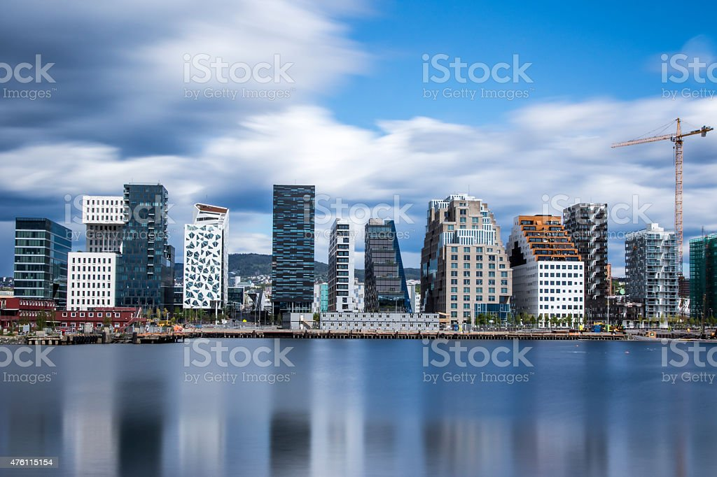 Bjørvika - Bjorvika in Oslo, Norway stock photo
