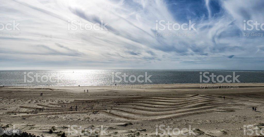Blaavand beach at the Danish North Sea coast stock photo