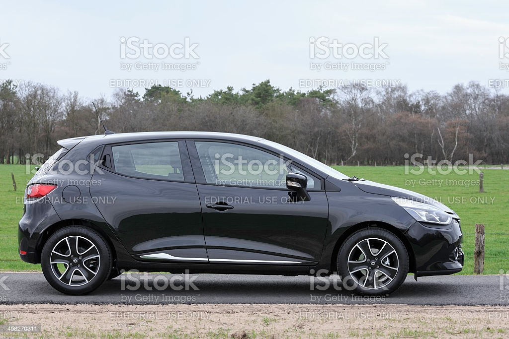 Black 2013 Renault Clio royalty-free stock photo