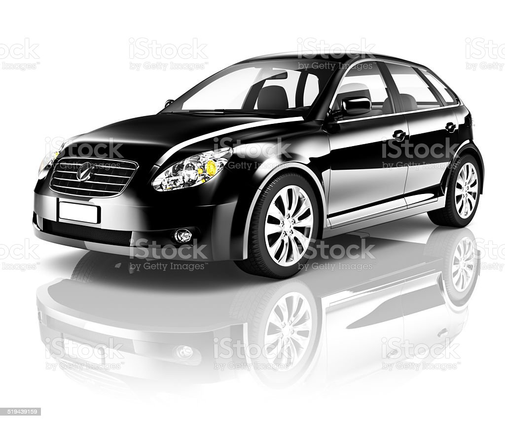 Black 3D Car stock photo