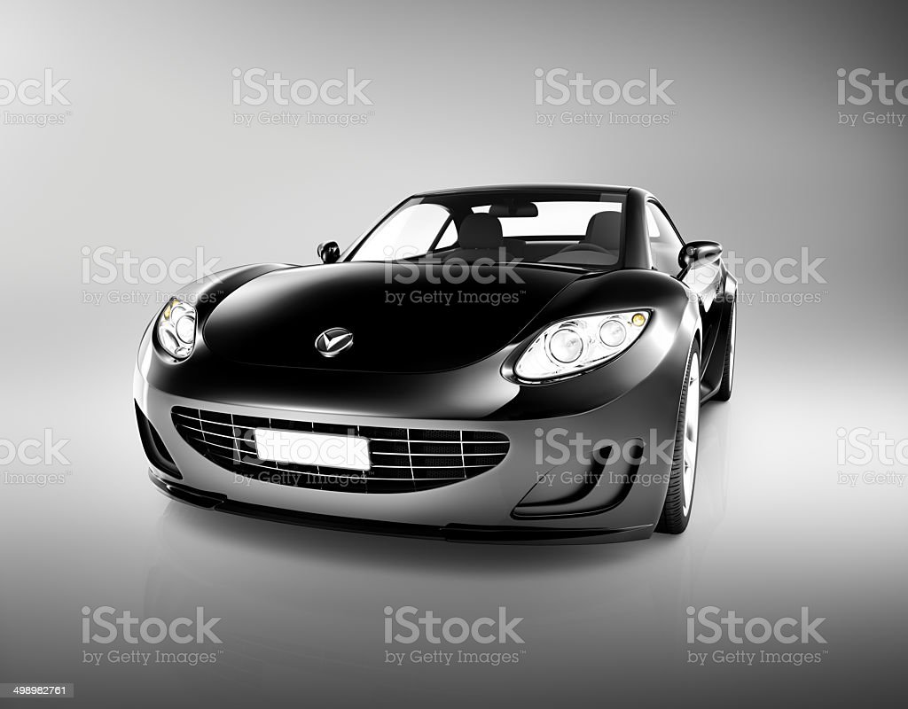 Black 3D Sport Car stock photo