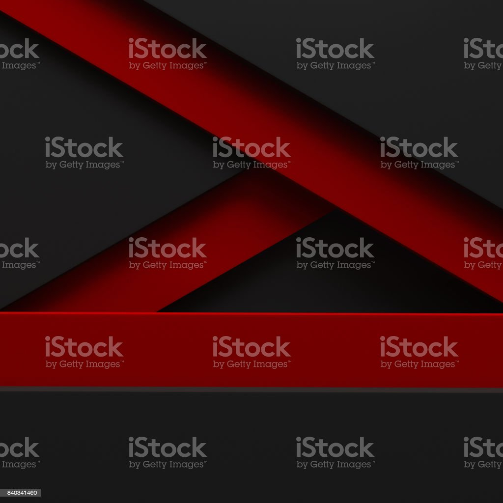 black abstract background red pattern stripe paper material 3d render. business technology commercial sale concept layout with copy space stock photo