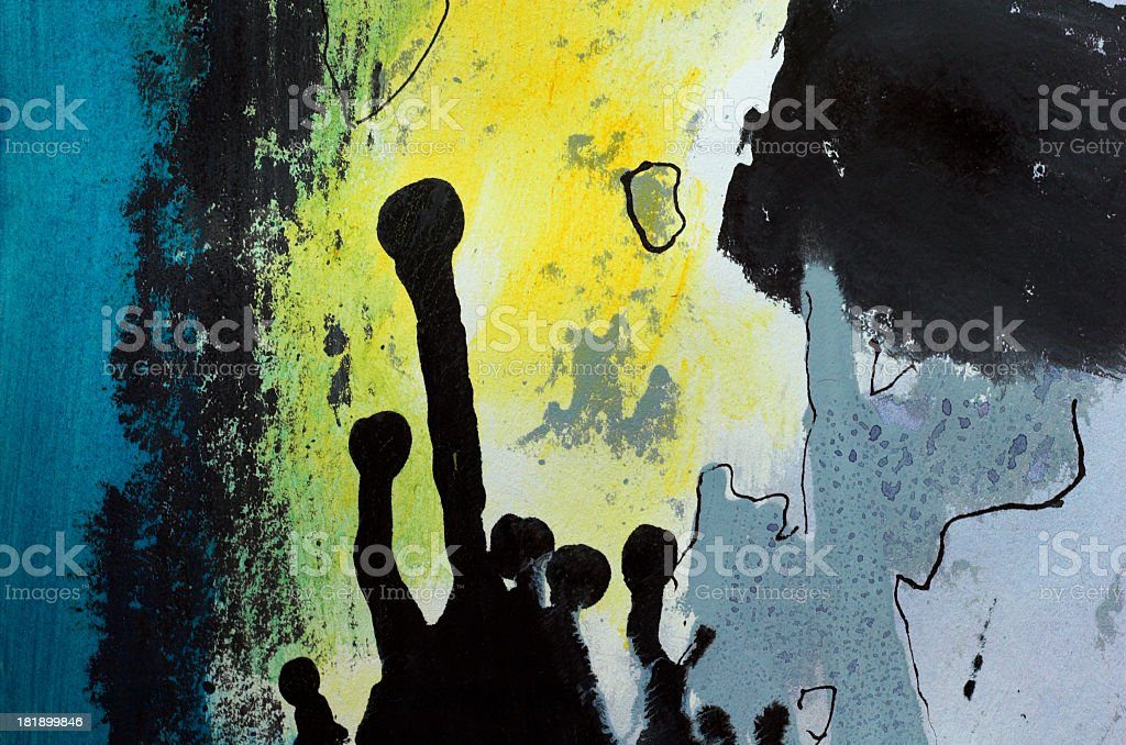 Black abstract figures royalty-free stock photo