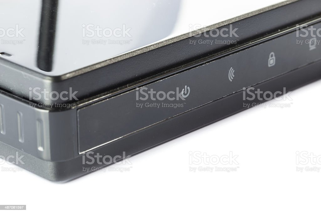 Black Access point router stock photo