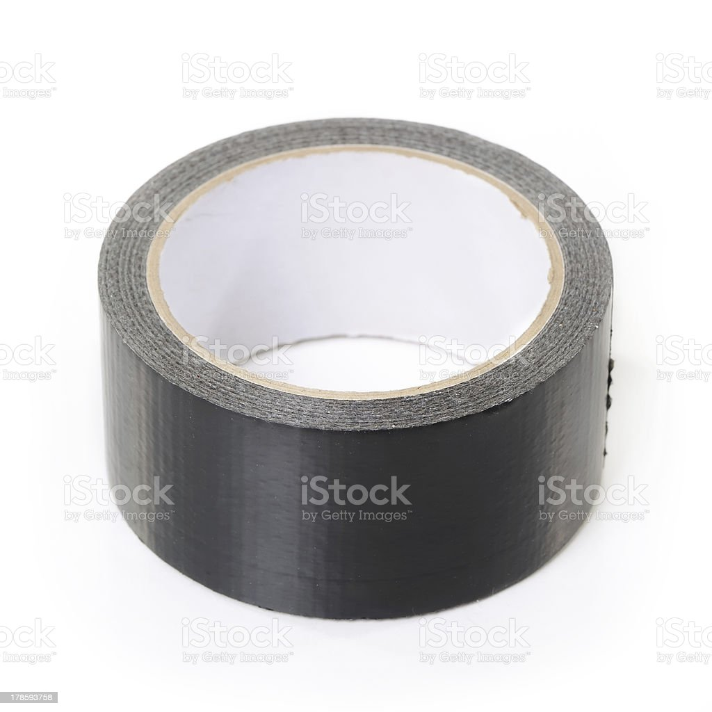 Black adhesive tape royalty-free stock photo