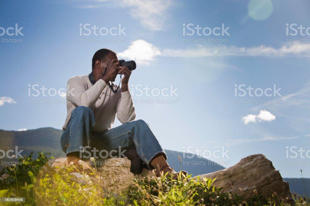 Black Adult Photographer royalty-free stock photo