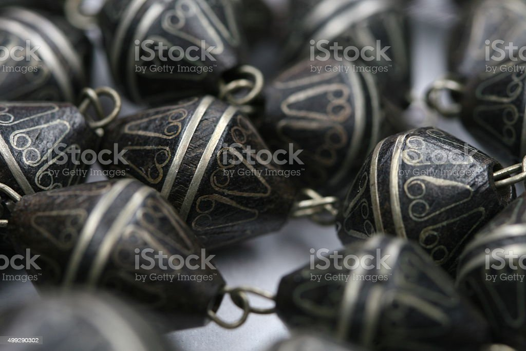 Black African Necklace stock photo