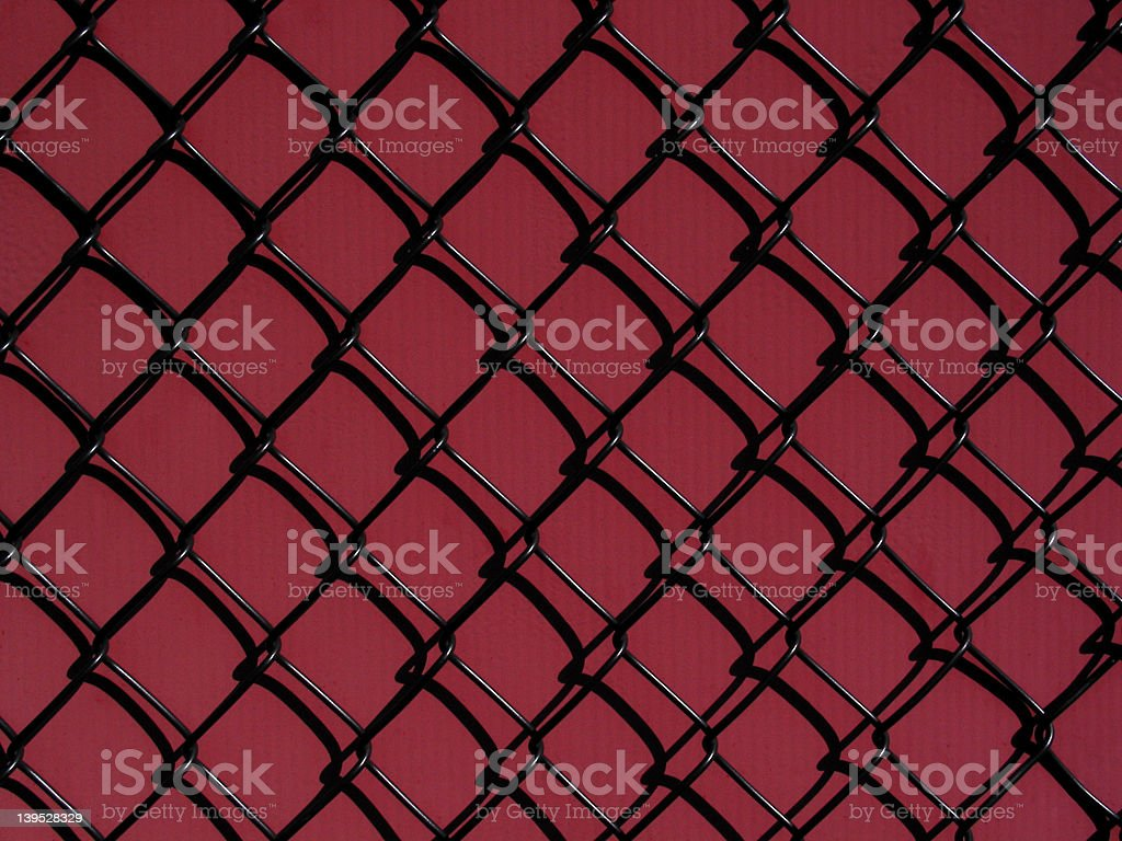 Black Against Red royalty-free stock photo