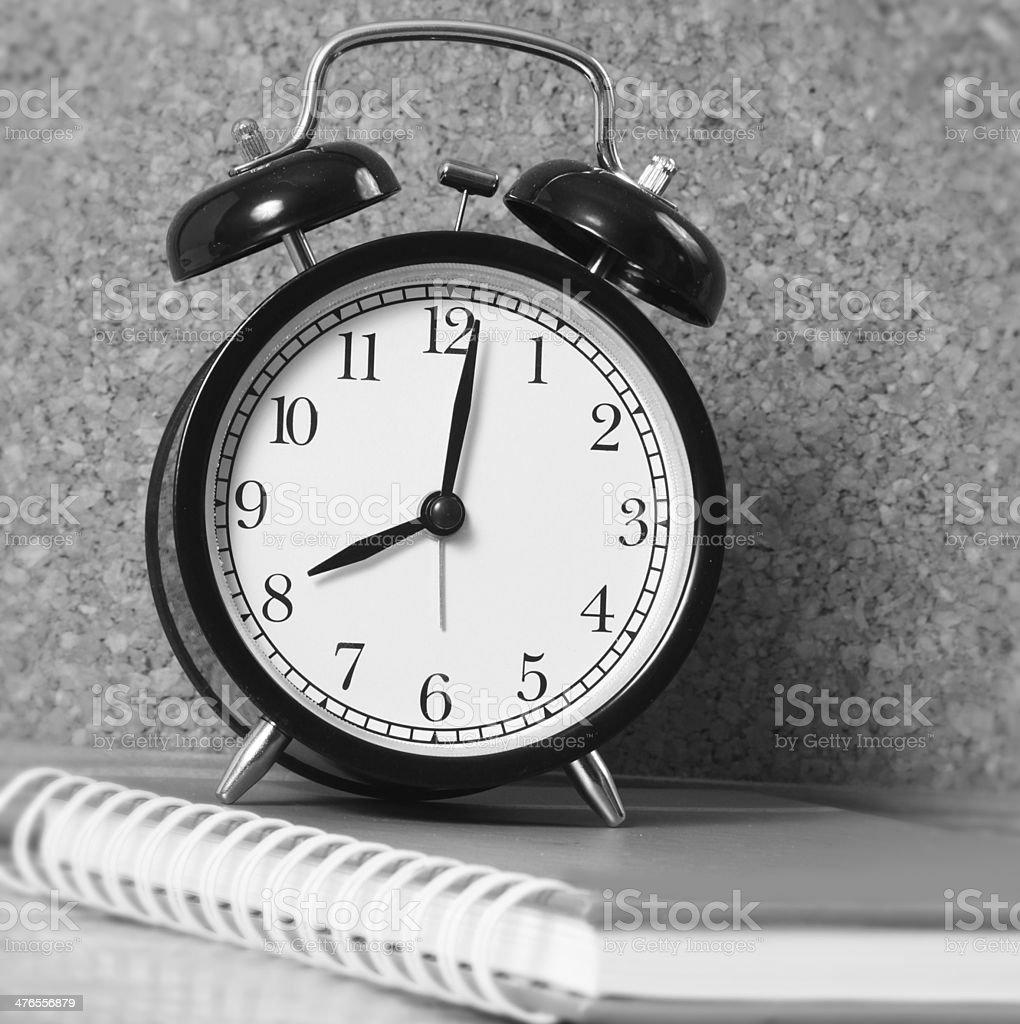 Black  Alarm a Clock royalty-free stock photo