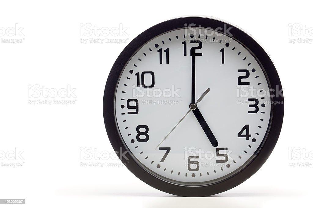 Black analog clock stock photo