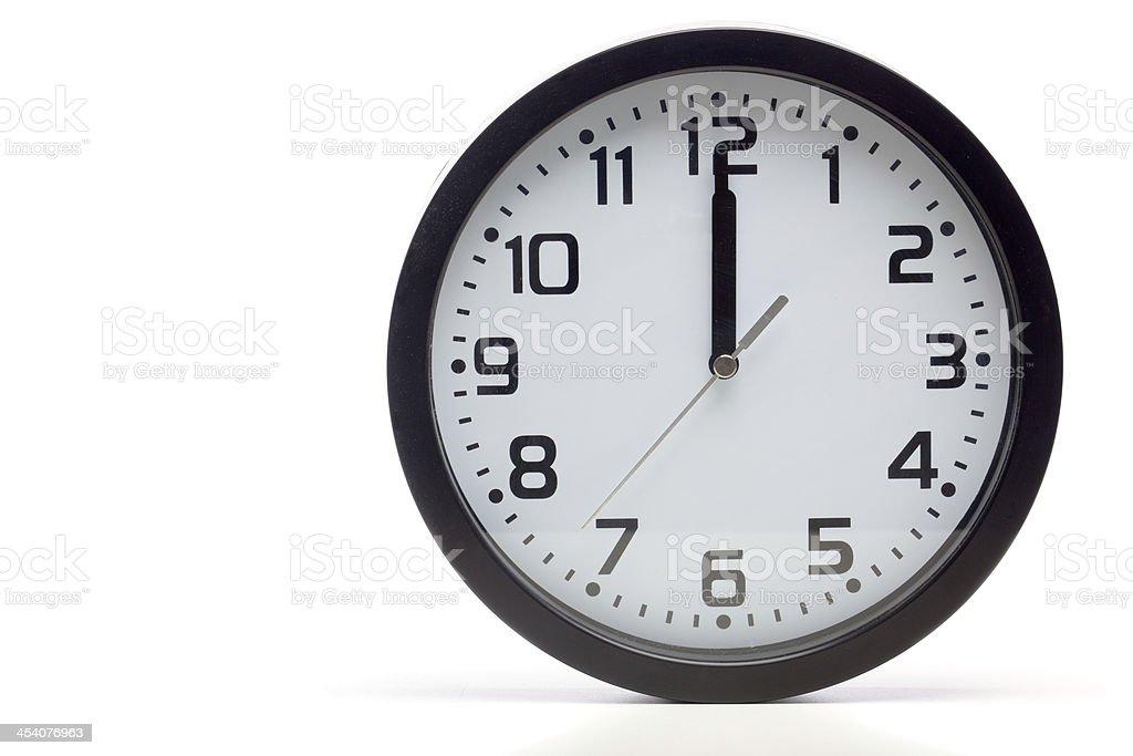 Black analog clock royalty-free stock photo