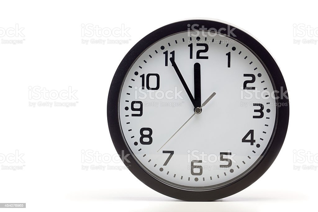 Black analog clock royalty-free stock photo