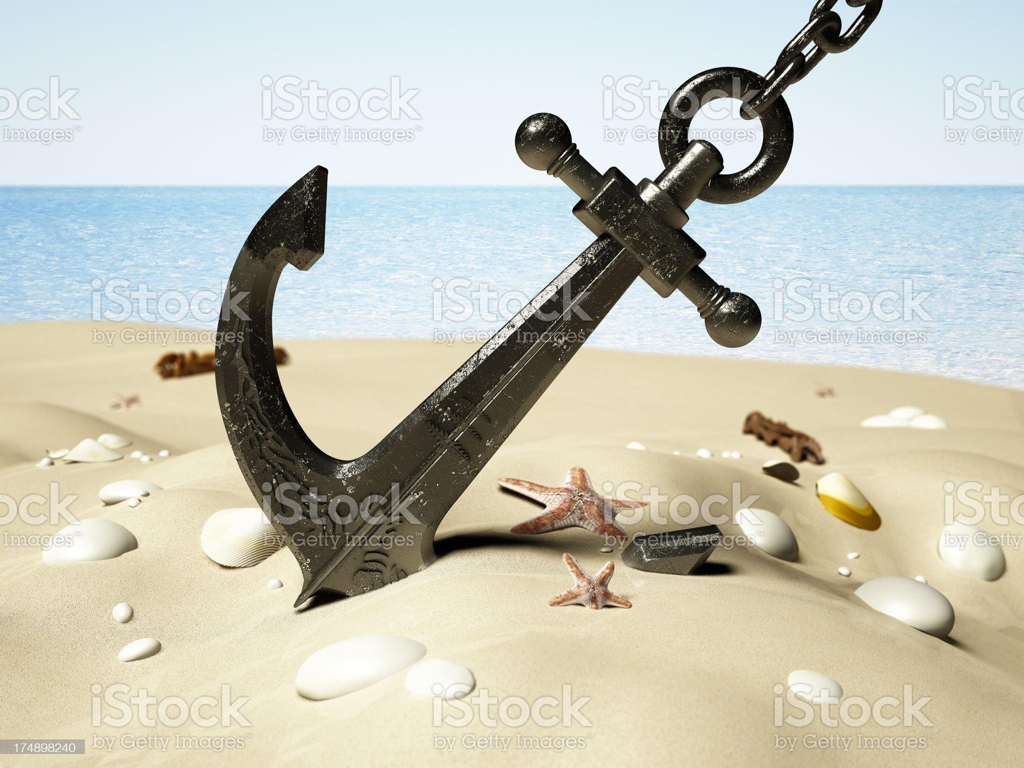 Black anchor royalty-free stock photo