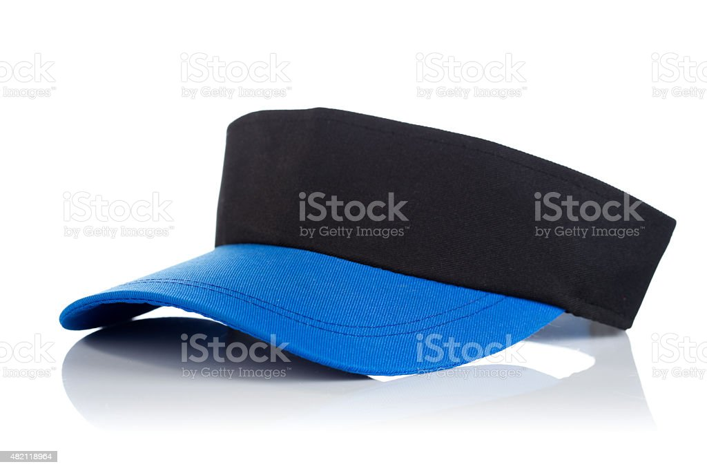 Black and blue tennis cap stock photo