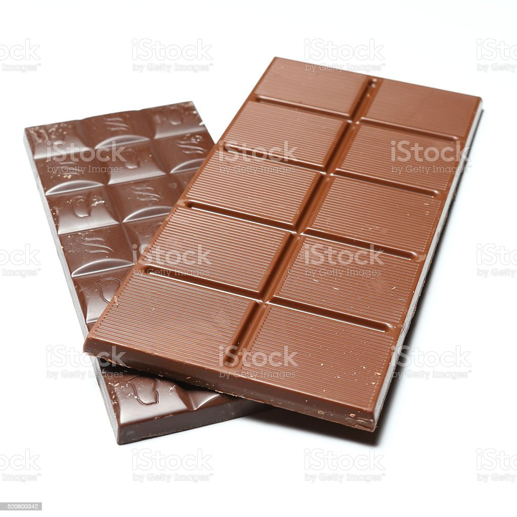 Black and brown chocolate bars stock photo