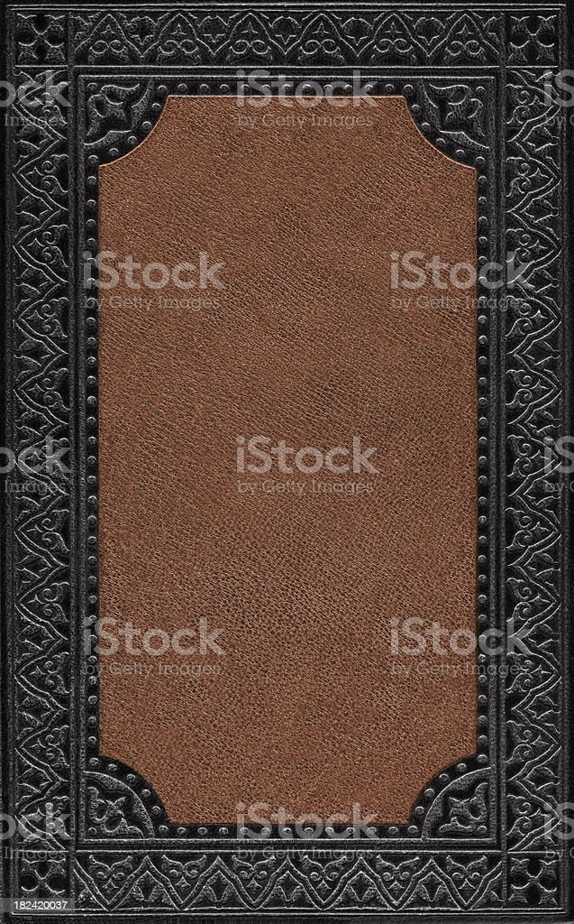 Black and Brown Leather Book Cover stock photo